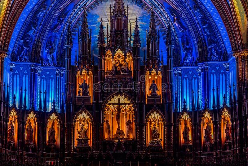 MONTREAL, QUEBEC KANADA, MAJ, - 21, 2018: Wnętrze Notre-Dame De Quebec katedra; Quebec miasto, Quebec fotografia royalty free