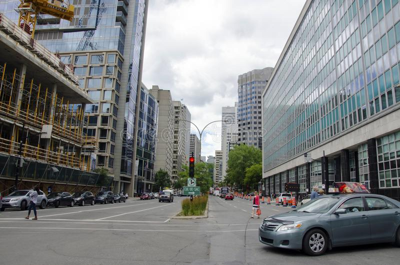 Montreal, Quebeque, Canadá - 19 de julho de 2016 - rua genérica dentro para baixo imagens de stock