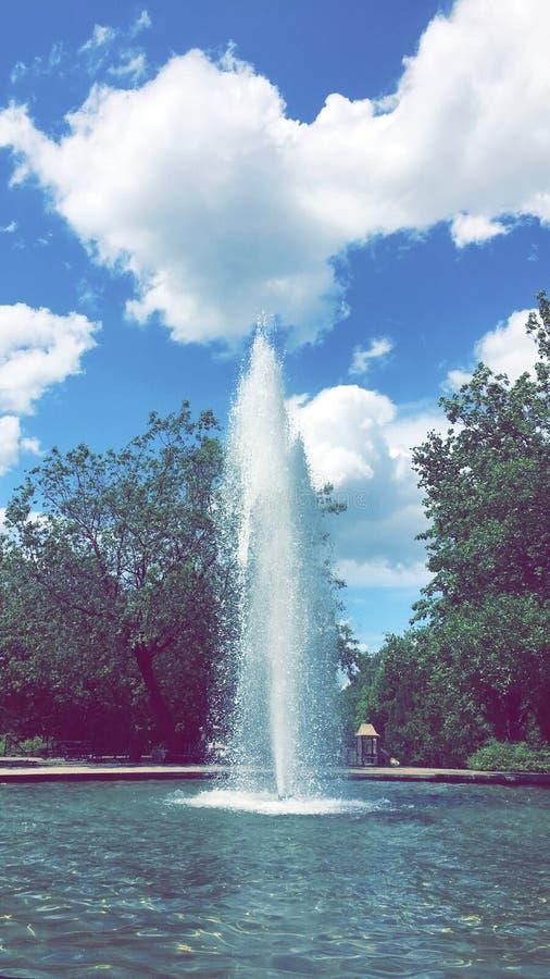 Montreal& x27;s Fountain royalty free stock photo