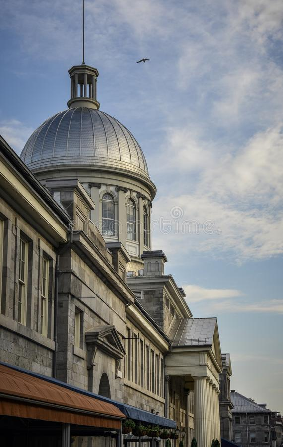 Montreal ` s Stary port Marche Bonsecours zdjęcie stock