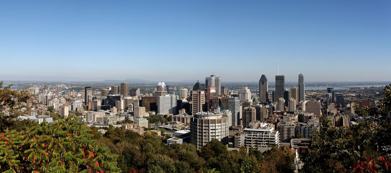 Montreal-Skyline stockbild