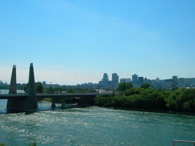 Montreal skyline royalty free stock photos