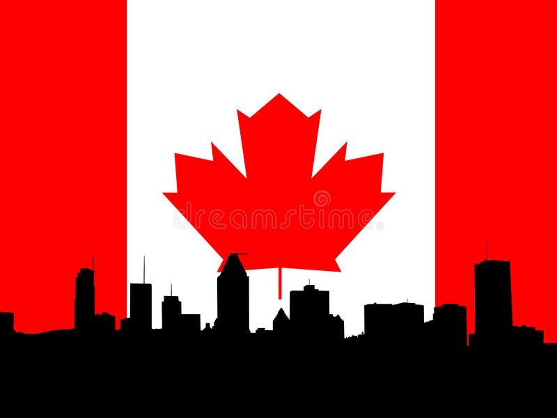 Montreal skyline illustration stock photography