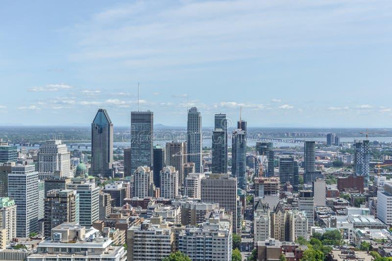 Montreal-Skyline im Sommer stockfoto