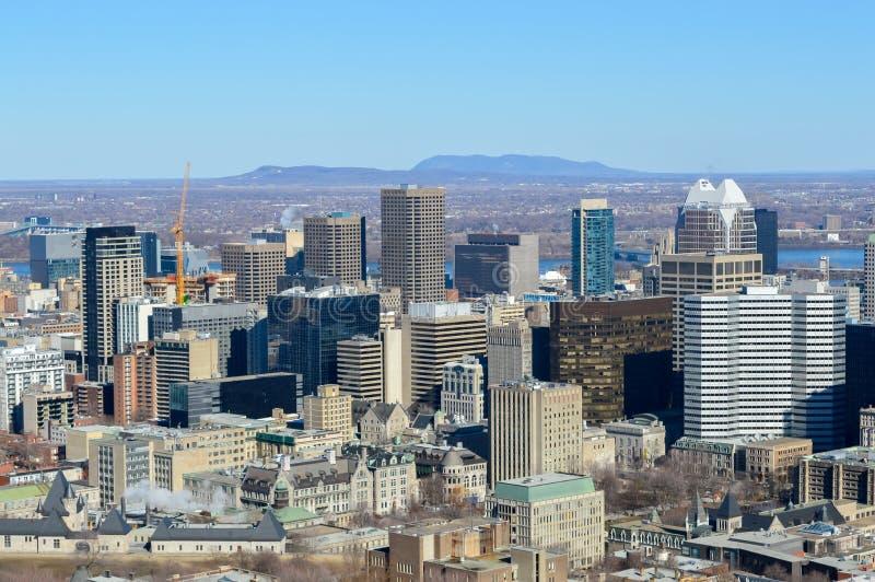 Montreal-Skyline im Winter lizenzfreies stockfoto