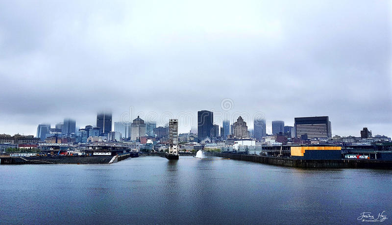 Montreal Skyline. A nice background with sharpe cloudy sky royalty free stock photos