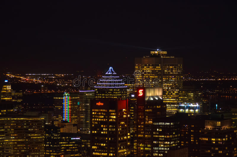 Montreal skyline in Quebec. Canada royalty free stock image