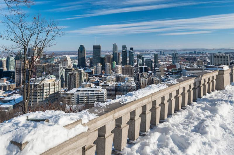 Download Montreal Skyline In Winter 2018 Stock Image - Image of nature, tourism: 109546359
