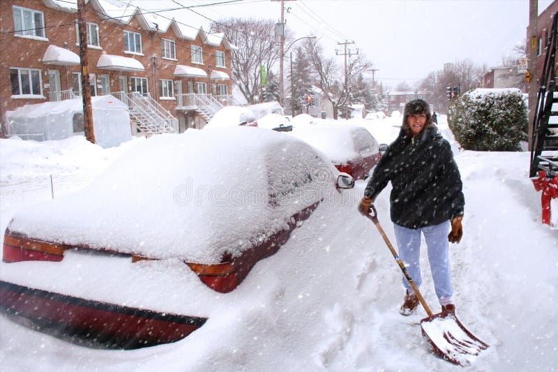 montreal snowstorm royaltyfri fotografi