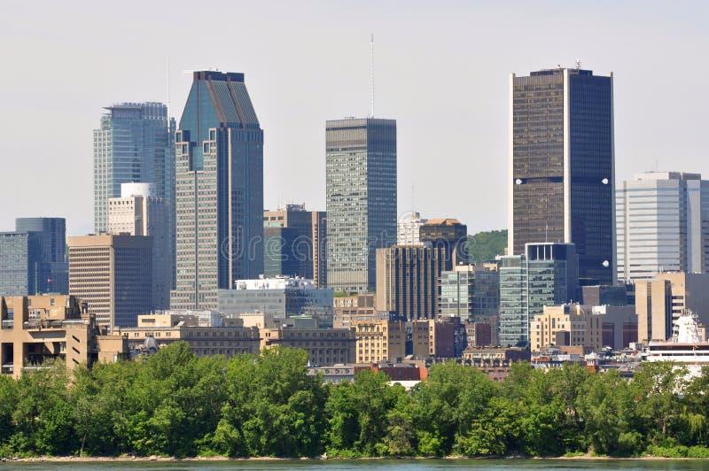 Montreal stadshorisont, Quebec, Kanada fotografering för bildbyråer
