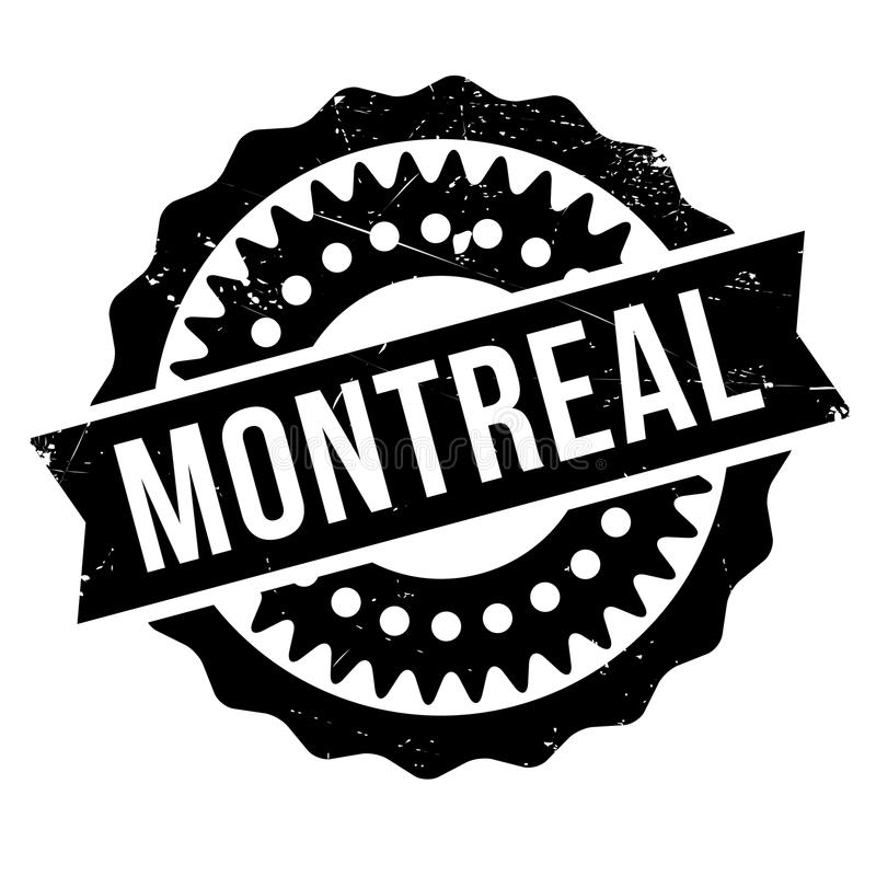 Montreal stamp rubber grunge. Montreal stamp. Grunge design with dust scratches. Effects can be easily removed for a clean, crisp look. Color is easily changed vector illustration