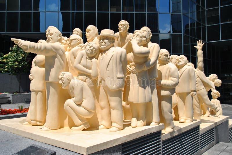 Montreal statua zdjęcia royalty free