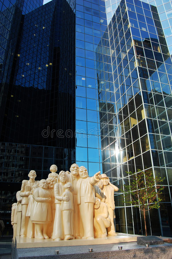 Montreal street sculpture, Montreal, Canada royalty free stock images