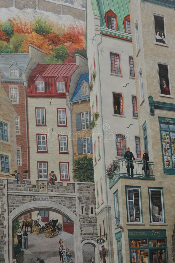 Montreal street art stock photos