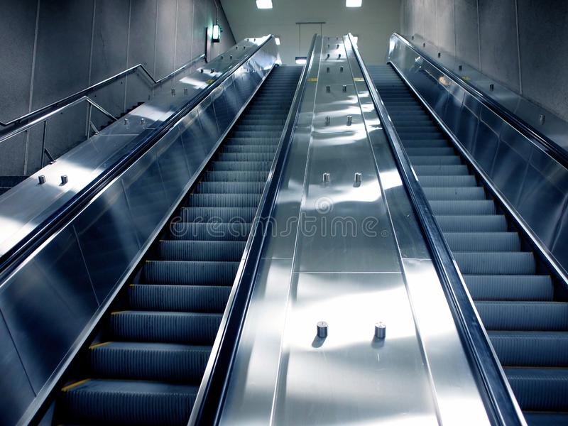 Montreal subway escalator stock photo