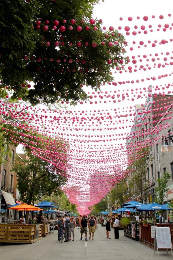 Montreal, Suite-Catherine-Straße lizenzfreie stockfotografie