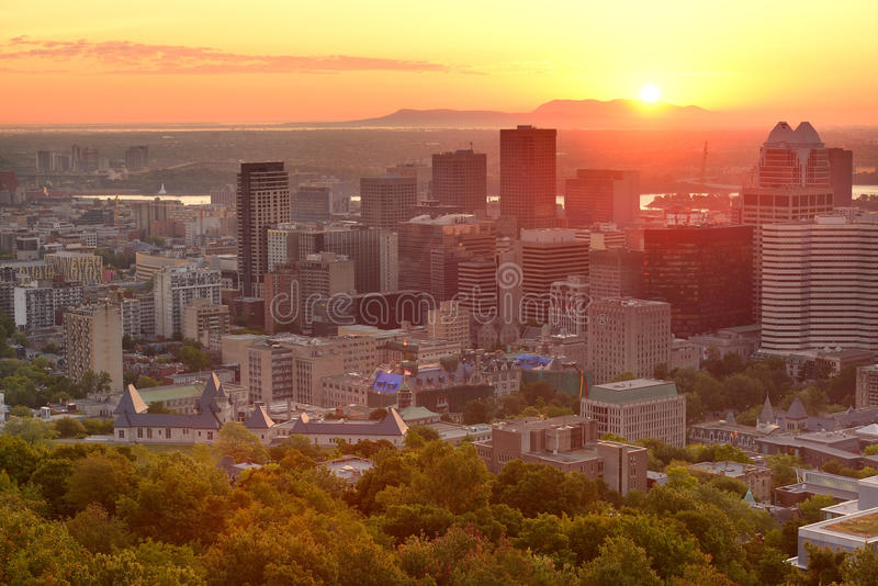 Download Montreal sunrise stock photo. Image of light, colorful - 31726554