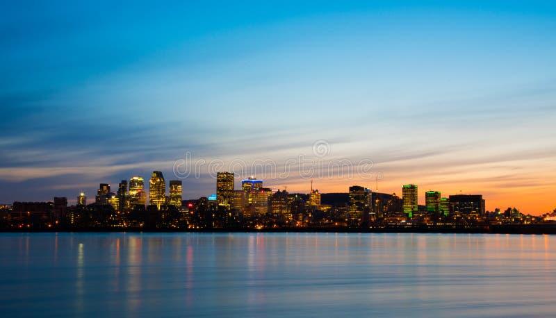 Montreal sunset royalty free stock photos