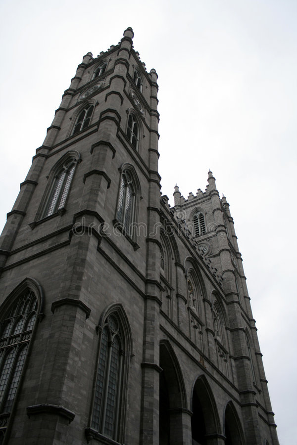 Montreal tower notre dame obraz stock