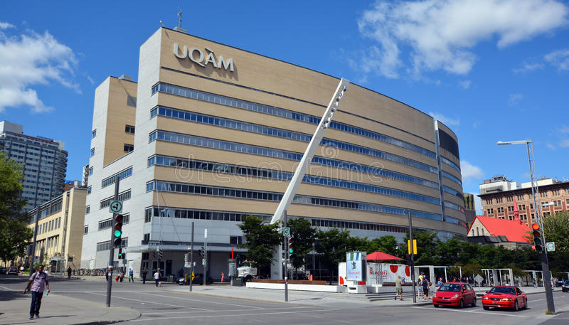 Montreal (UQAM). MONTREAL CANADA 08 30 2016: Universite du Quebec a Montreal (UQAM) is a public university. It is a French-language university and is the largest royalty free stock images