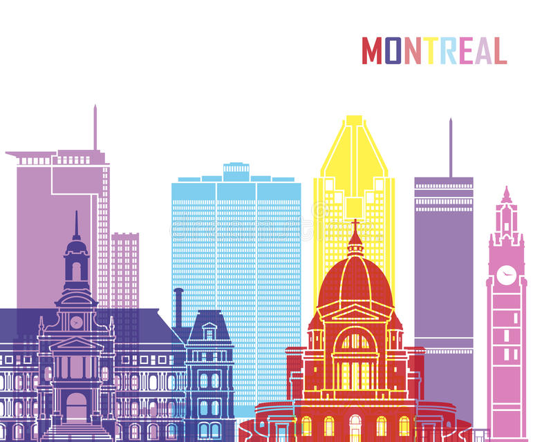 Montreal_V2 ορίζοντας λαϊκός απεικόνιση αποθεμάτων