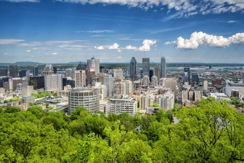 Montreal van de binnenstad stock foto
