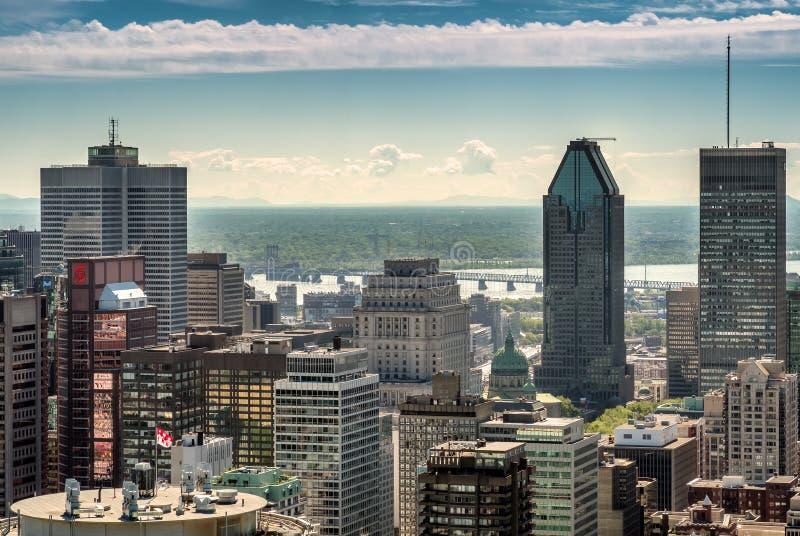 Montreal van de binnenstad royalty-vrije stock afbeeldingen
