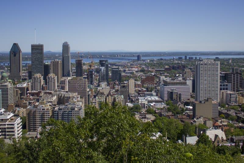 Montreal van de binnenstad op een de zomerdag royalty-vrije stock foto's