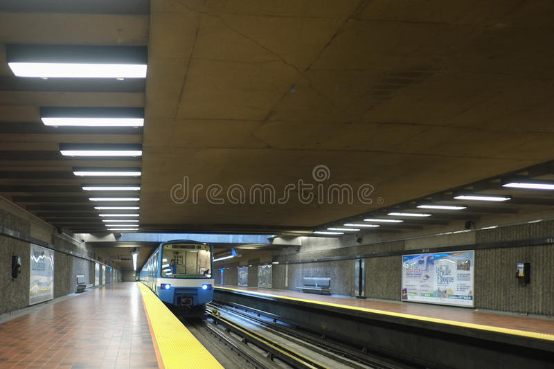 Montreal Viau stacja metru (metro) zdjęcia royalty free