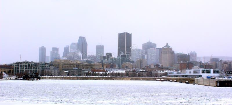 montreal vinter arkivbild