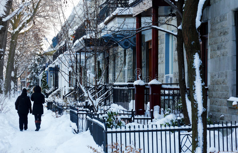 Montreal vinter royaltyfria bilder