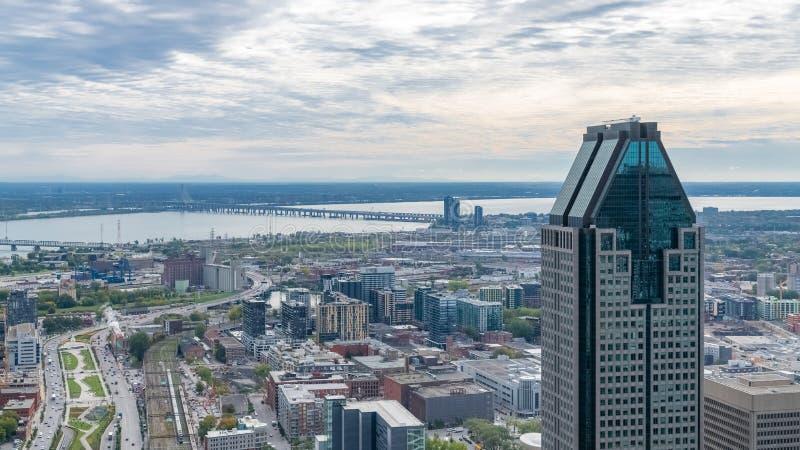 Montreal w Kanadzie, widok z powietrza zdjęcia royalty free