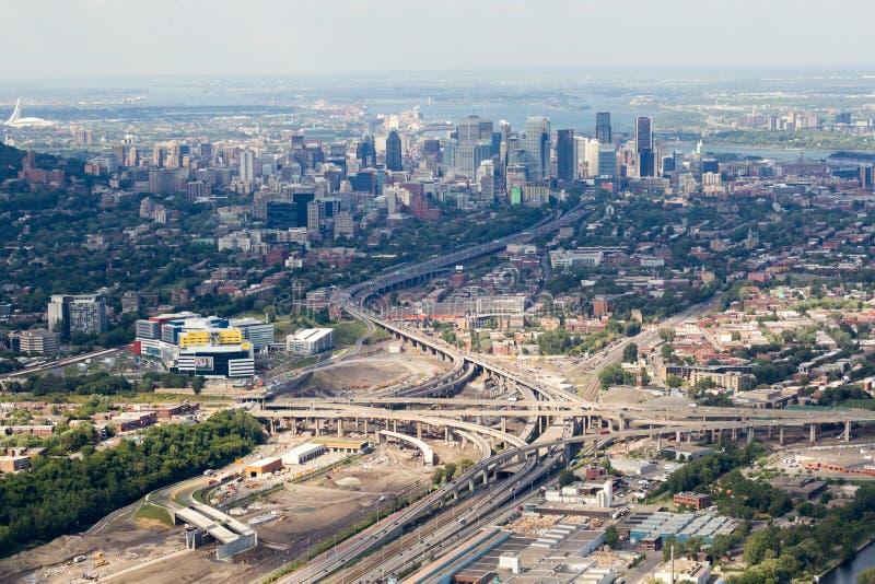 Montreal widok z lotu ptaka obrazy royalty free