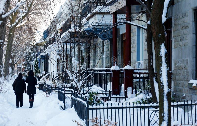 Montreal-Winter lizenzfreie stockbilder