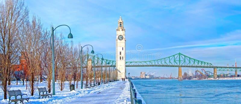 Montreal in winter, Canada stock photos
