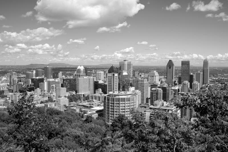 Montreal in zwart-wit royalty-vrije stock foto's