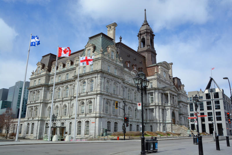 Montreals stadshus arkivbilder