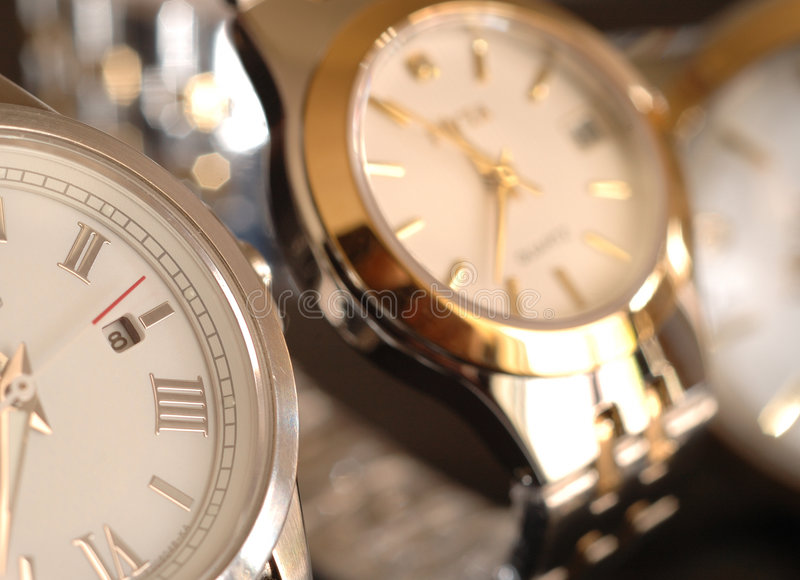 Montres d'or photo stock