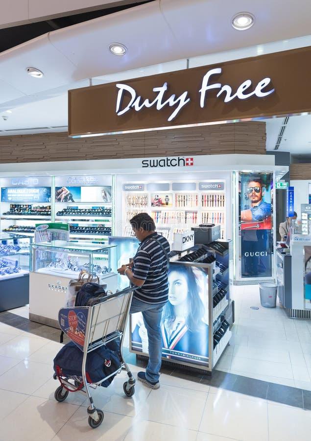 Montres hors taxe boutique, Bangkok photographie stock