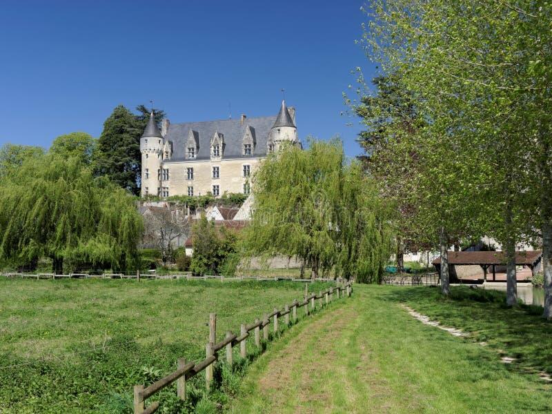Montresorkasteel en dorp, Indrois-vallei, Frankrijk royalty-vrije stock foto's