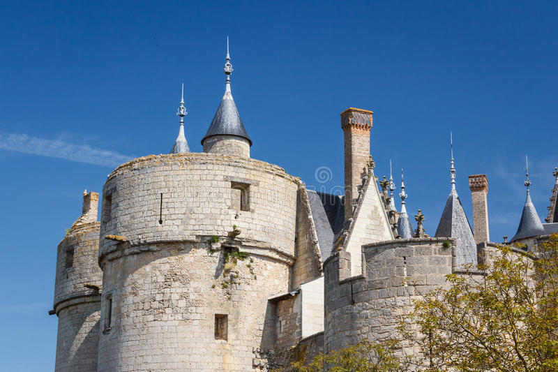 Montreuil-Bellay slott royaltyfri foto