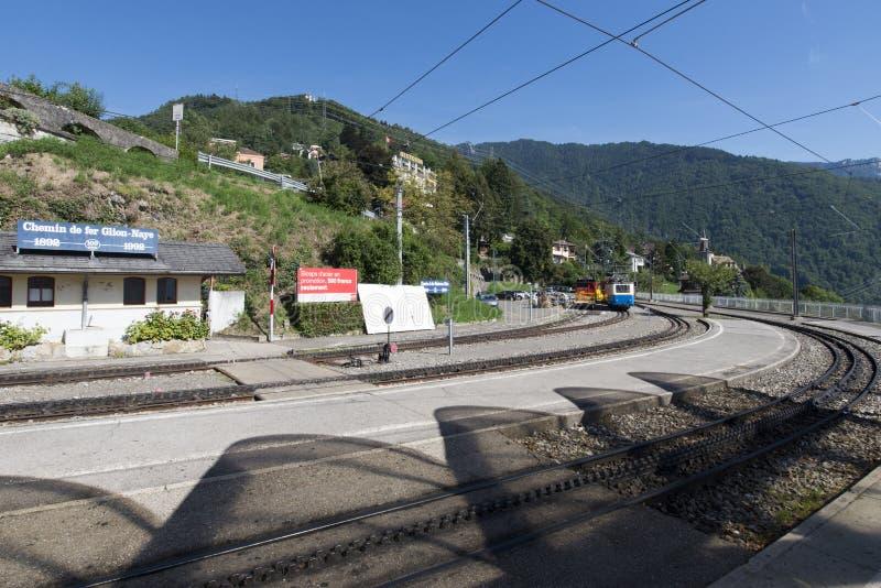 Montreux†«Glion†«Rochers-de-Naye железная дорога стоковое изображение rf