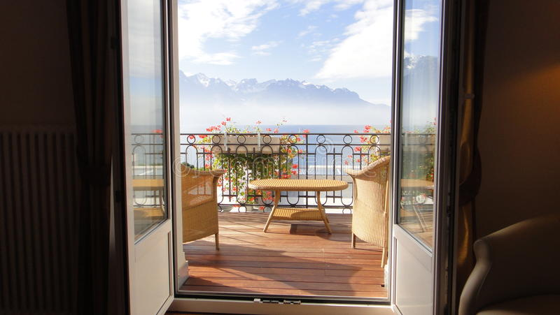 Download Montreux stock image. Image of window, terrace, lake - 21440183