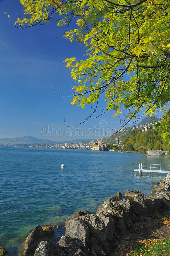 Montreux and Lake Geneva stock image