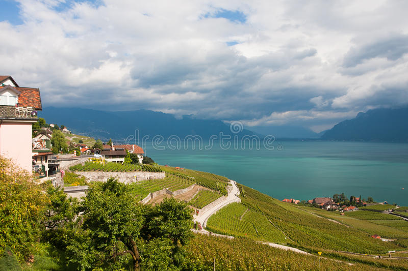 Montreux on Lake Geneva royalty free stock photo