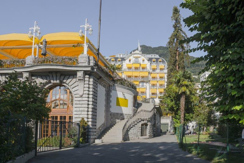 Montreux Palace Hotel stock photos