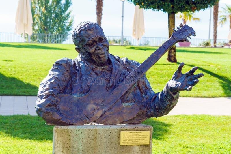 Montreux, Suíça - 18 de outubro de 2017: Monumento de B B Rei imagens de stock royalty free