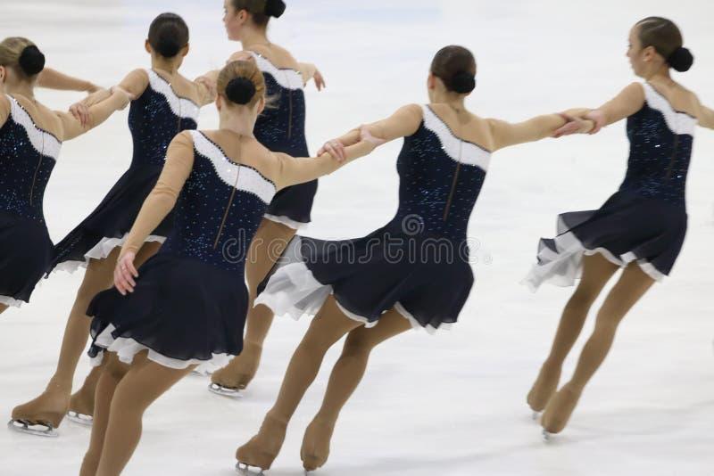 Montrez à la tasse Open de patinage synchronisé par région de Perm photo stock