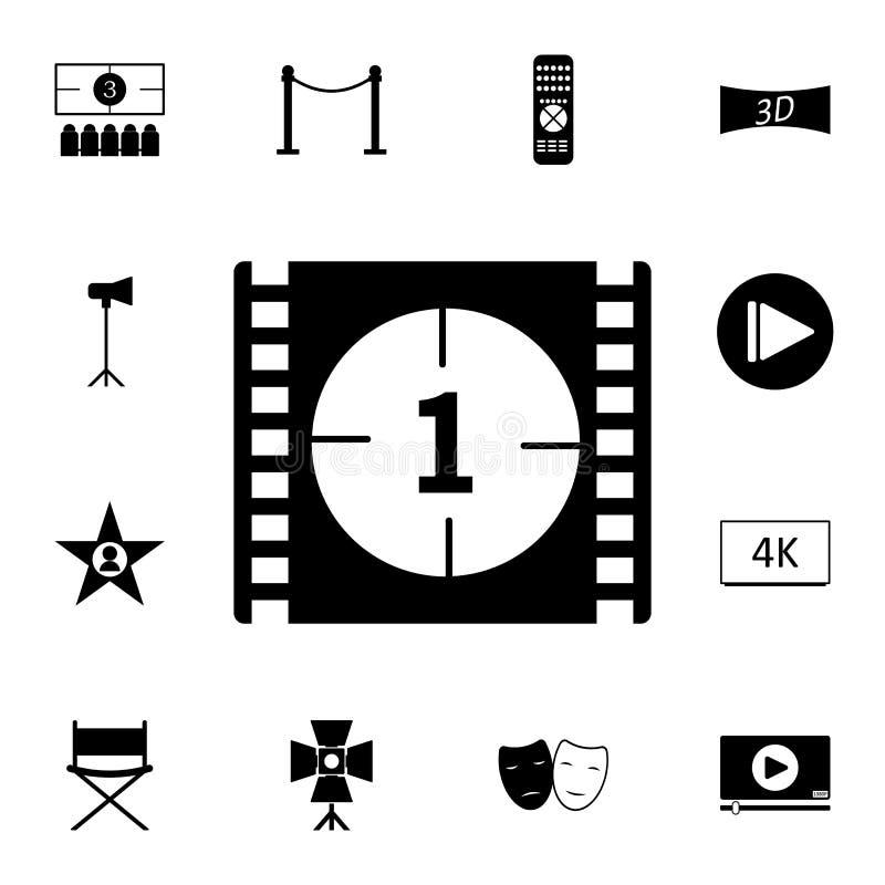 montrez l'icône de compte de film Ensemble détaillé d'icônes de cinéma Icône de la meilleure qualité de conception graphique de q illustration libre de droits