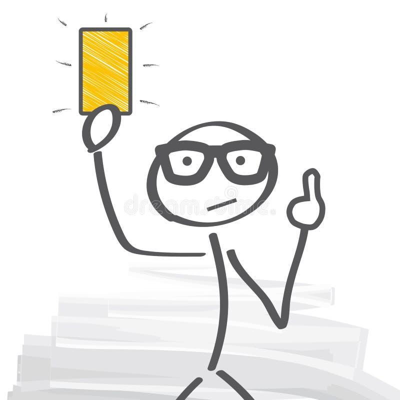 Montrez la carte jaune - en avertissant illustration de vecteur
